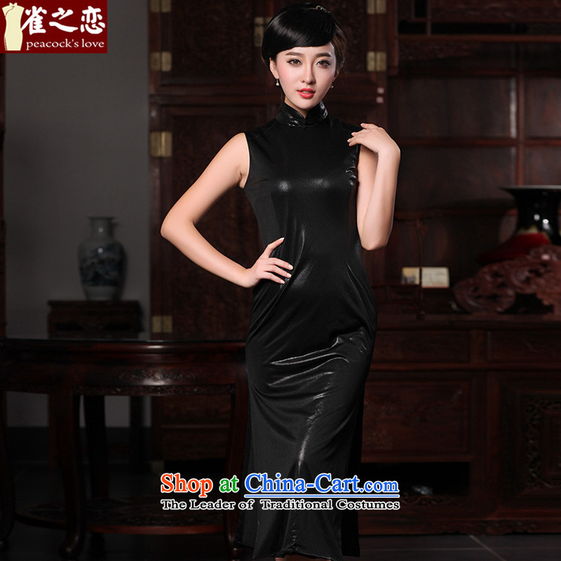 Love of birds,爏pring 2015 new played the classic style of Qipao Sau San improved QD576 black燣