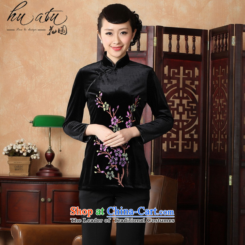 It fall inside the new hand-painted Ms. Tang Dynasty Chinese clothing collar ethnic women improved 9 cuff scouring pads qipao shirt�-A 2XL