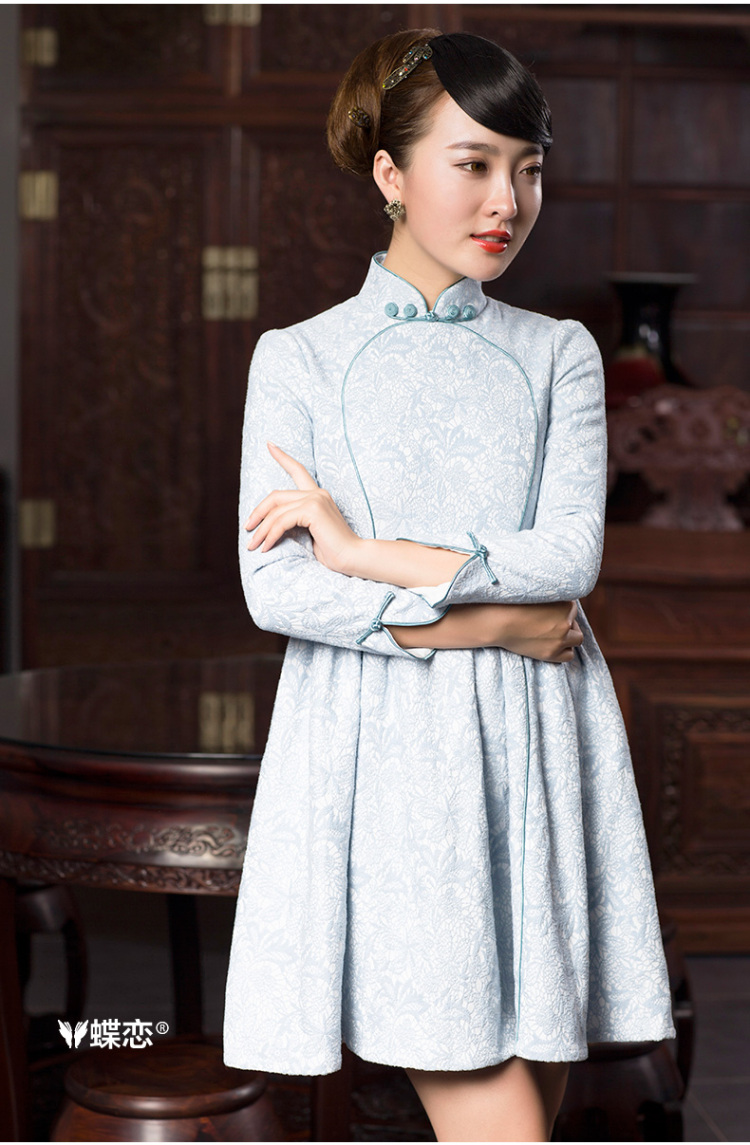 Butterfly Lovers 2015 Autumn new bridesmaid dresses, Stylish retro dresses skirts qipao improved temperament short of Qipao 48019 light blue聽L picture, prices, brand platters! The elections are supplied in the national character of distribution, so action, buy now enjoy more preferential! As soon as possible.