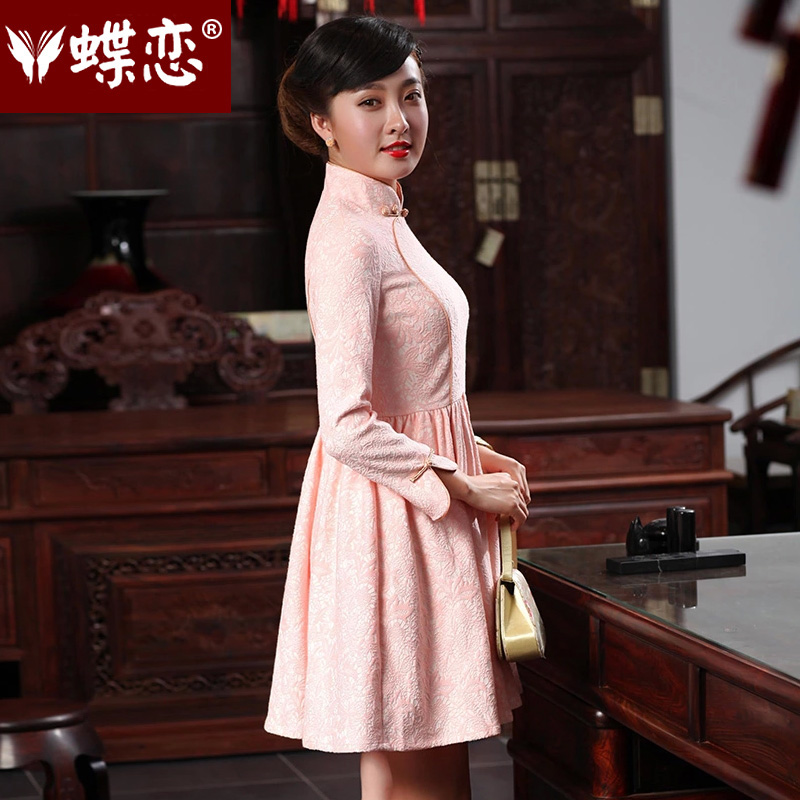 Butterfly Lovers 2015 Autumn new bridesmaid dresses, Stylish retro dresses skirts qipao improved temperament short of Qipao 48019 light blue聽, L, Butterfly Lovers , , , shopping on the Internet