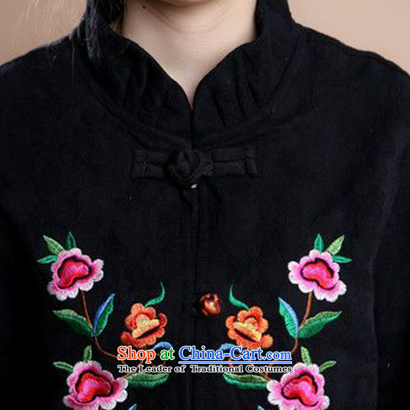 The 2014 autumn forest narcissus install new full Mudan cotton jacquard Tang Dynasty Large relaxd mother load characteristics of national Wind Jacket coat Fgr-a183 black , L, Forest Narcissus (senlinshuixian) , , , shopping on the Internet