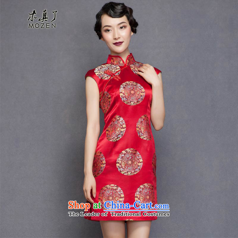 Winter dresses wood really 2015 Spring new bride replacing marriage bows qipao skirt contentions32560 04 Magenta燲L