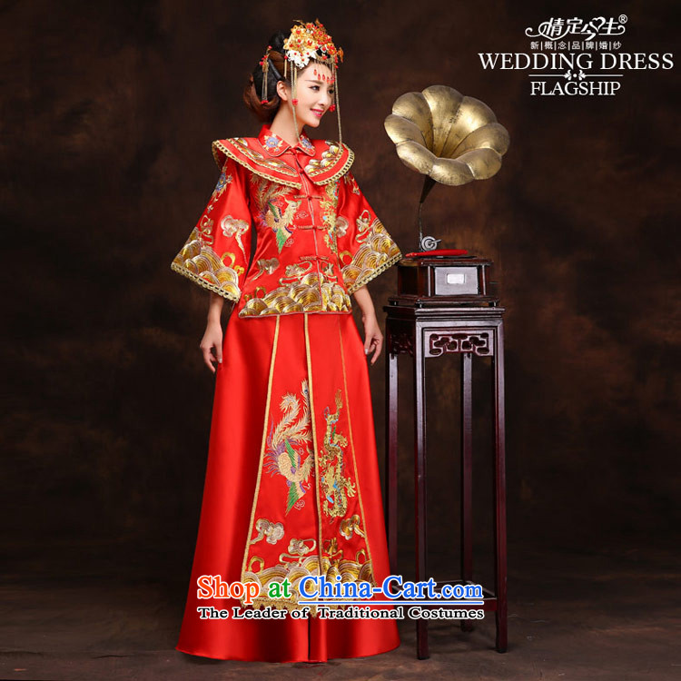 Maximum number of this life-handicraft embroidery Wo Service(Chinese Traditional dress wedding dress bows wedding gown services retro qipao Bong-sam Hui + XXL 2 feet waistline clothing 3 pictures, prices, brand platters! The elections are supplied in the national character of distribution, so action, buy now enjoy more preferential! As soon as possible.