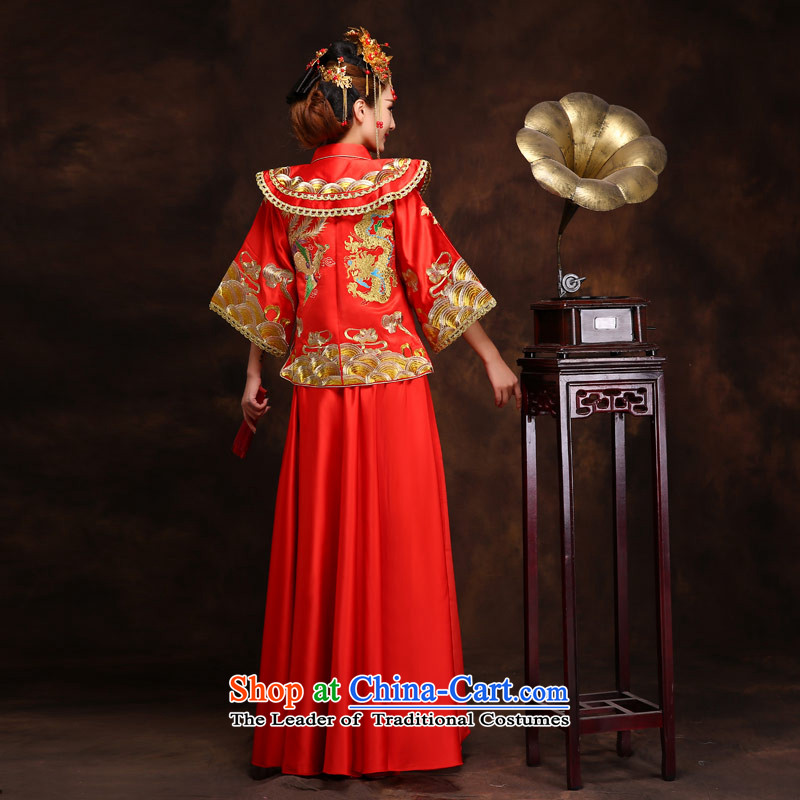 Maximum number of this life-handicraft embroidery Wo Service(Chinese Traditional dress wedding dress bows wedding gown services retro qipao Bong-sam Hui + 2 feet waistline clothing XXL 3, the love of the overcharged shopping on the Internet has been press
