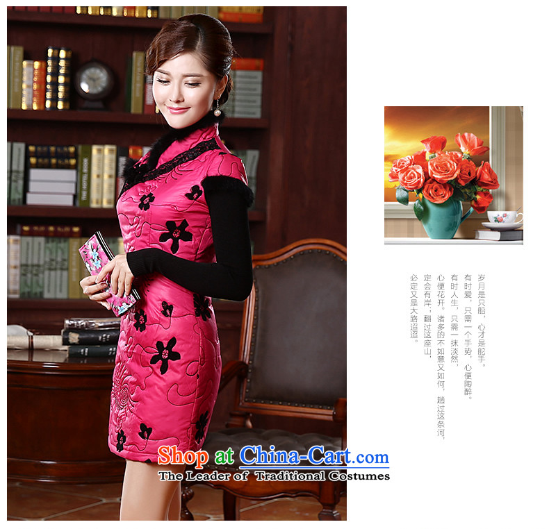 [Sau Kwun Tong] of land for autumn and winter cotton dress qipao folder 2015 New Stylish retro look warm cheongsam dress Sau San QD4921 better red聽XL Photo, prices, brand platters! The elections are supplied in the national character of distribution, so action, buy now enjoy more preferential! As soon as possible.