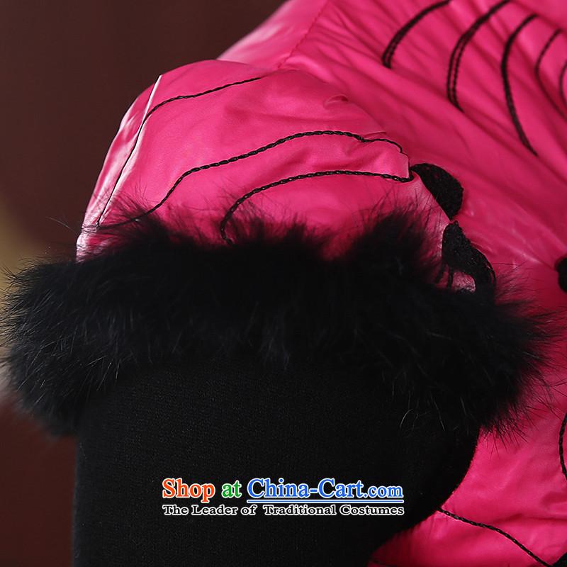 [Sau Kwun Tong] of land for autumn and winter cotton dress qipao folder 2015 New Stylish retro look warm cheongsam dress Sau San QD4921 better red聽XL, Sau Kwun Tong shopping on the Internet has been pressed.