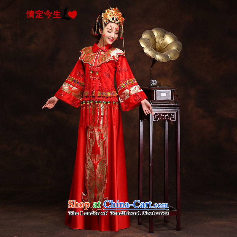 Love of the present CHINESE CHEONGSAM pregnant women serving wedding dresses bride bows female Red Mun Tang dynasty women, Sau Wo Fung Koon + SAU Service WO SERVICES燲L爓aist ft 2 2