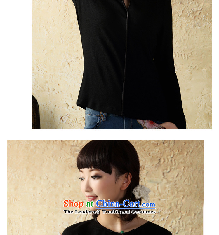 A Pinwheel Without Wind to long-sleeved heart-il knit shirts Autumn Chinese boxed China wind Tang Dynasty Chinese women of ethnic Black聽XL Photo, prices, brand platters! The elections are supplied in the national character of distribution, so action, buy now enjoy more preferential! As soon as possible.
