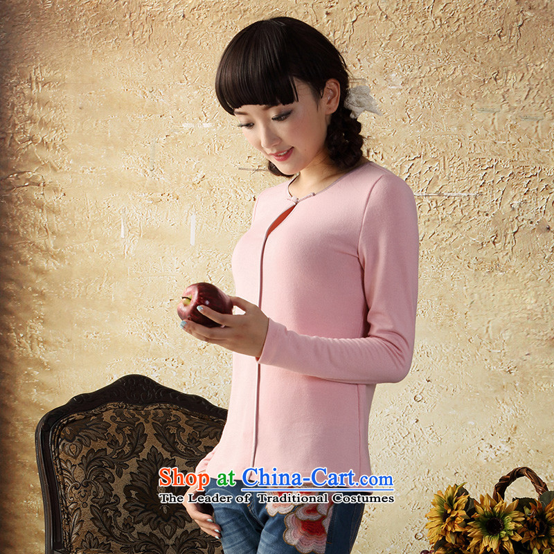 A Pinwheel Without Wind to long-sleeved heart-il knit shirts Autumn Chinese boxed China wind Tang Dynasty Chinese women of ethnic Black聽XL, Yat Lady , , , shopping on the Internet