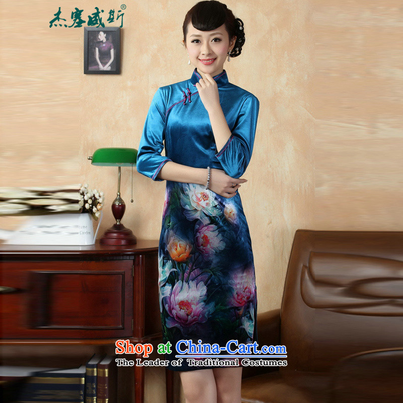 Jie in the autumn and winter new fall inside a mock-neck disc detained elastic Kim manually scouring pads poster in sleek cuff cheongsam dress TD0008_ figure M