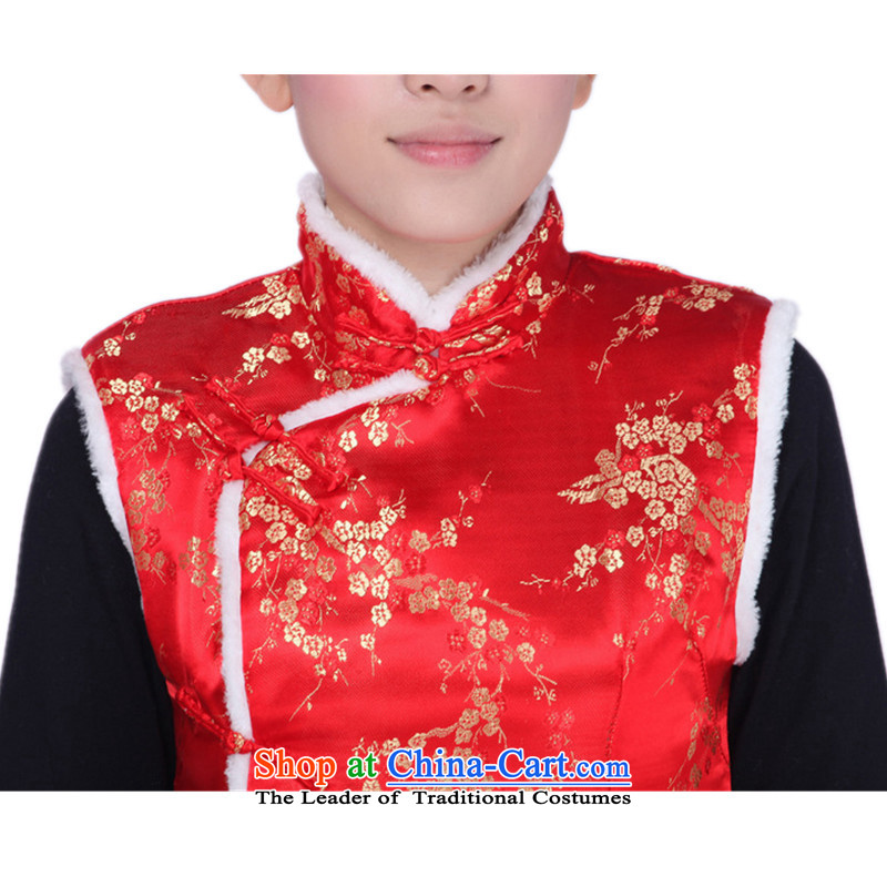 Can Green, older women's autumn and winter trendy new products collar embroidered with cotton Tang dynasty mother vest 0003# 2XL, Can Green, , , , shopping on the Internet