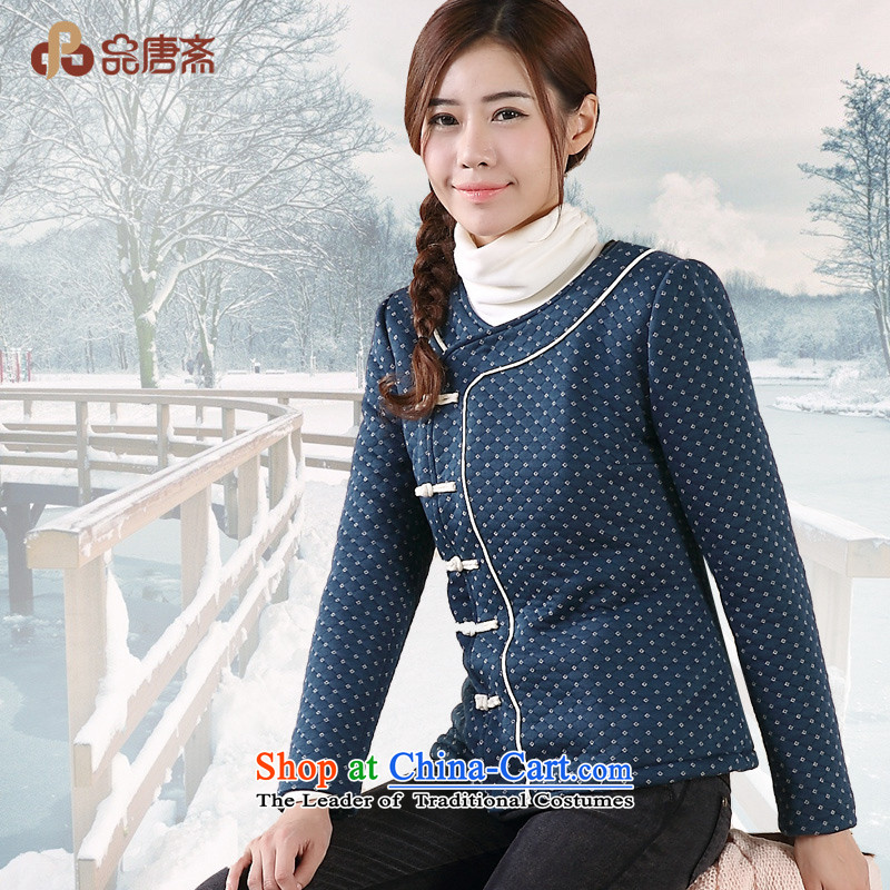 No. of Ramadan 2014 Winter Tang new national wind load lint-free cotton waffle service Tang jackets female blue燣