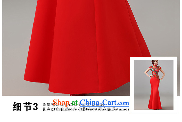 2015 new red short-sleeved qipao gown Chinese marriages bows service long retro improved qipao L picture, prices, brand platters! The elections are supplied in the national character of distribution, so action, buy now enjoy more preferential! As soon as possible.