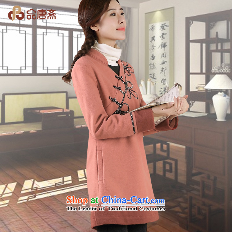 No. of Ramadan 2014 Winter Tang new national wind long-sleeved loose improved Tang Dynasty Han-pink燲L