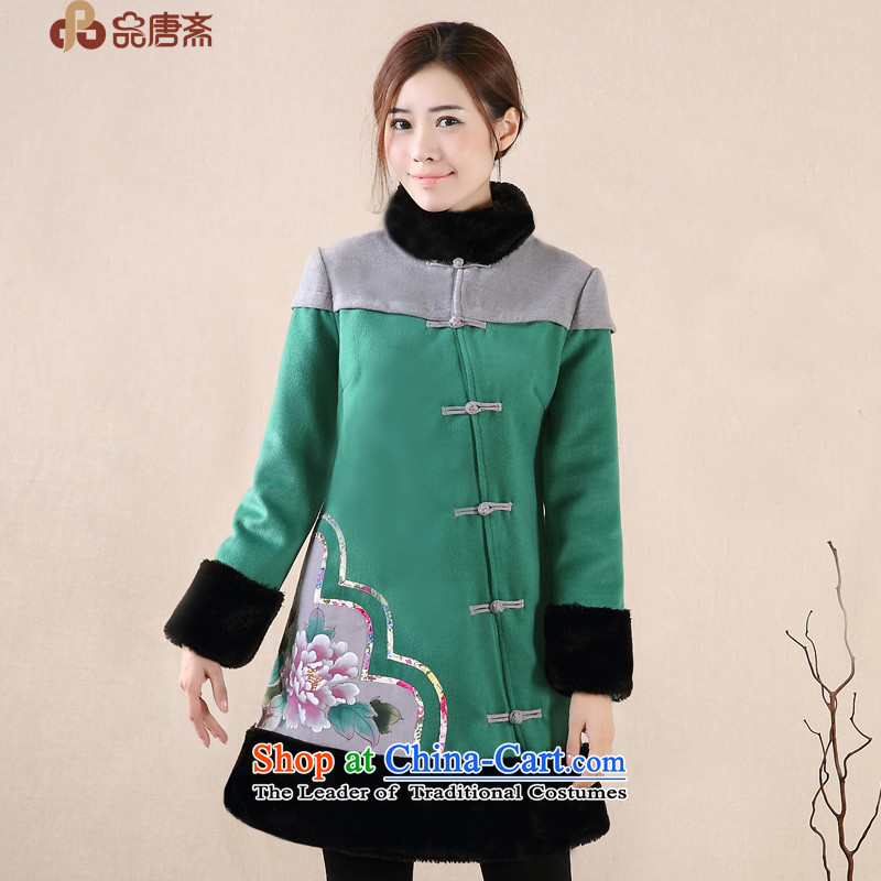 No. of Ramadan 2014 Winter Tang new ethnic hand-painted improved retro Tang jackets female green燬