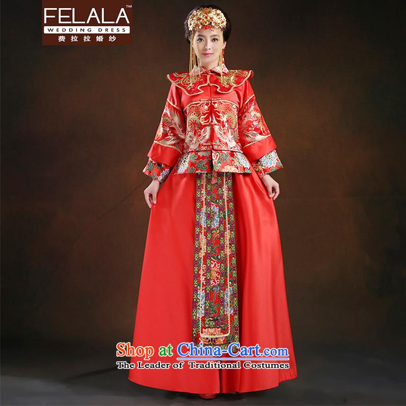 Ferrara聽2015 Chinese qipao good retro bride damask Sau Wo Service bows service聽M聽Suzhou Shipment