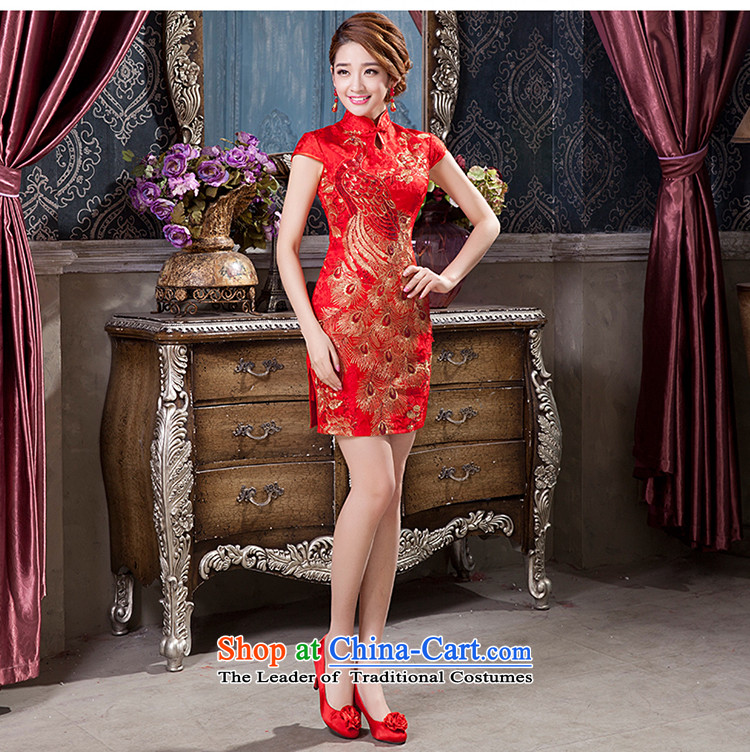 2015 New Chinese short of qipao improved Sau San marriages dress bows services qipao聽M picture, prices, brand platters! The elections are supplied in the national character of distribution, so action, buy now enjoy more preferential! As soon as possible.