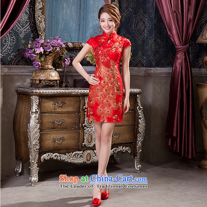 2015 New Chinese short of qipao improved Sau San marriages dress bows services聽according to M qipao Mona Lisa Lam shopping on the Internet has been pressed.