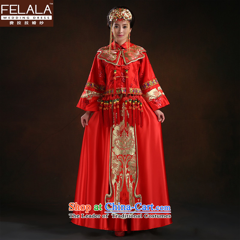 Ferrara�2015 Chinese antique dresses long bride, Sau Wo Service service of pregnant women serving�S bows