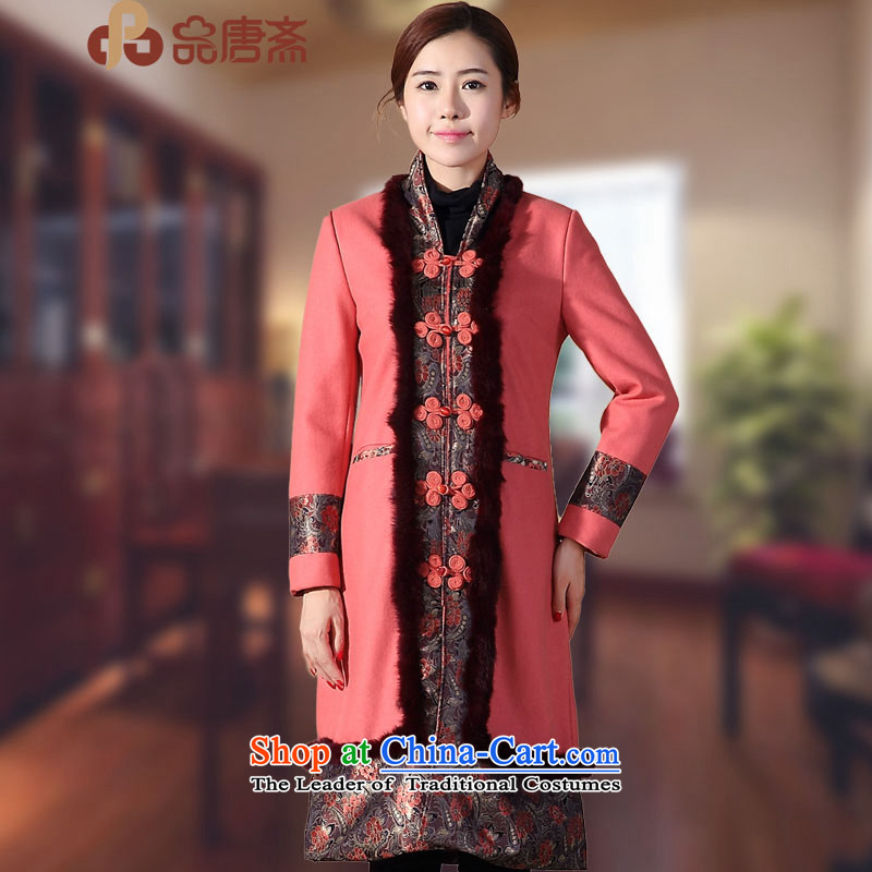 No. of Ramadan 2014 Winter Tang new national wind long-sleeved T-shirt red retro improved qipao L