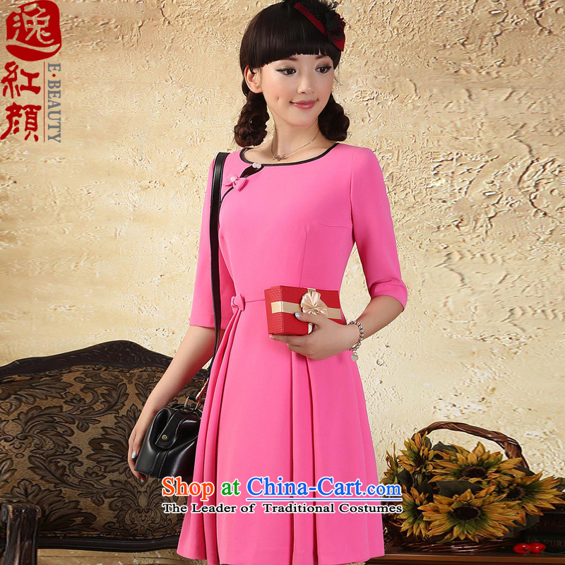 A Pinwheel Without Wind-Arabic China Yat-sleeved dresses autumn 2015 new women of ethnic, sexy short skirt the red?S