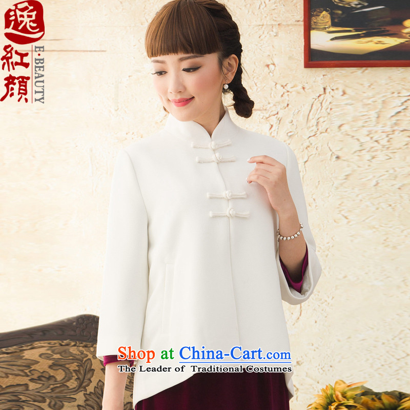 A Pinwheel Without Wind Yat Ms. Ryeo-won and stylish shirt improved load autumn qipao China Wind Jacket Chinese women of ethnic white 2XL
