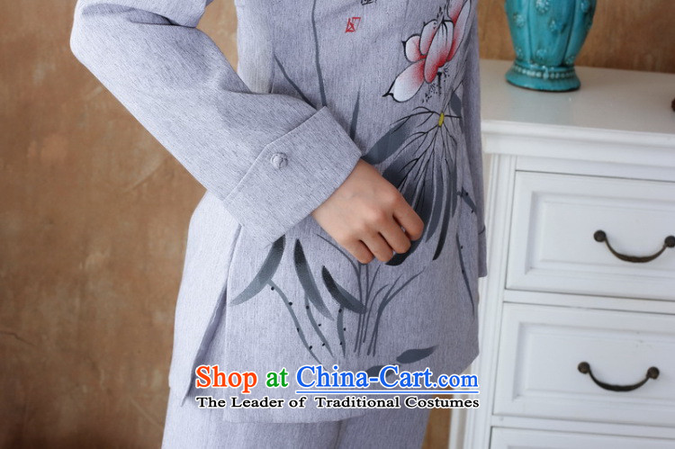 158 Jing Ms. older Tang dynasty cotton linen load spring and autumn kit collar hand-painted Tang blouses pants Kit- 3 Silver Gray4XL Photo, prices, brand platters! The elections are supplied in the national character of distribution, so action, buy now enjoy more preferential! As soon as possible.