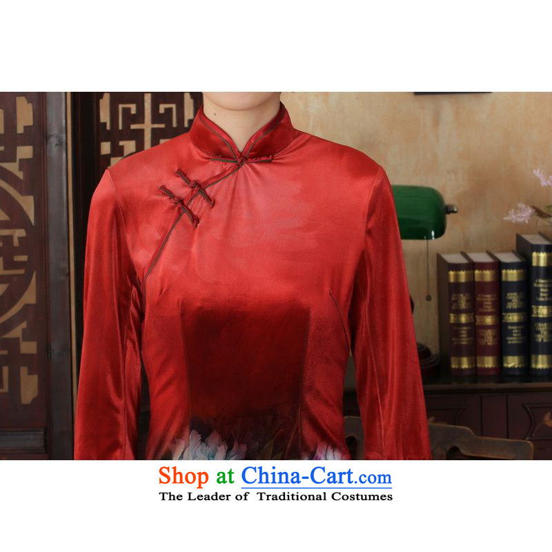 158 Jing Chinese improved cheongsam dress long skirt superior Stretch Wool cheongsam dress Kim   7 Color Photo聽158 M, cuff jing shopping on the Internet has been pressed.