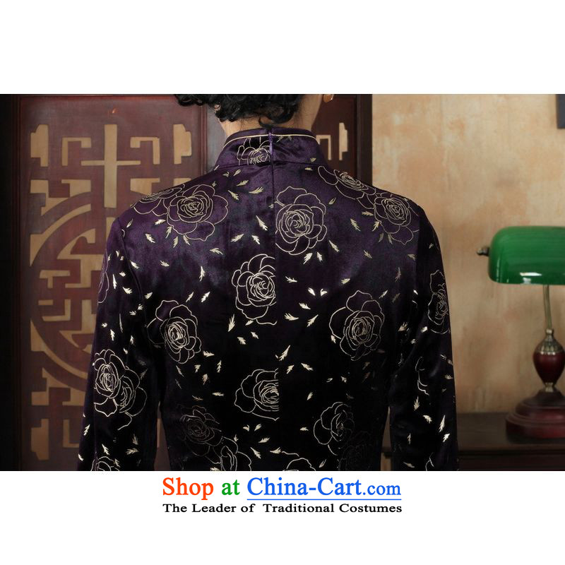 158 Jing Chinese improved cheongsam dress long skirt superior Stretch Wool cheongsam dress Kim Sau San 7 Cuff Color pictures聽to Jing.... 2XL, shopping on the Internet