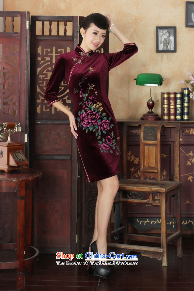 158 Jing Chinese improved cheongsam dress long skirt superior Stretch Wool cheongsam dress Kim Sau San 7 Cuff聽-A black聽S picture, prices, brand platters! The elections are supplied in the national character of distribution, so action, buy now enjoy more preferential! As soon as possible.