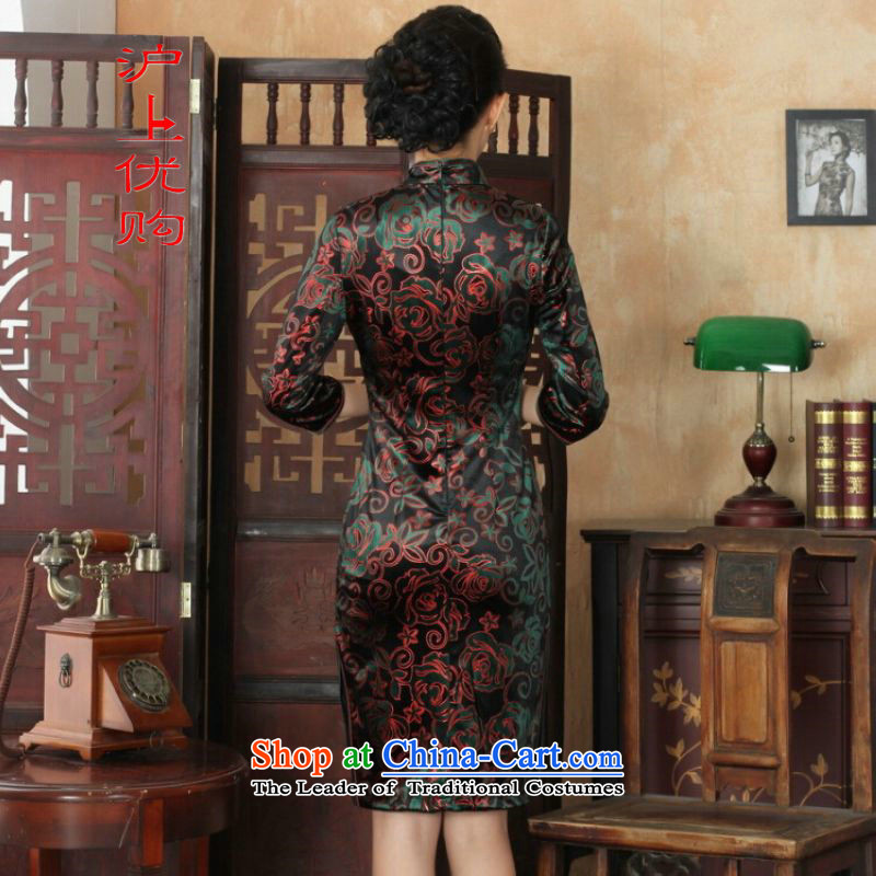 Shanghai, optimize IPO Chinese improved cheongsam dress long skirt superior Stretch Wool cheongsam dress Kim   7聽M, Shanghai picture color sleeves, optimization options , , , shopping on the Internet