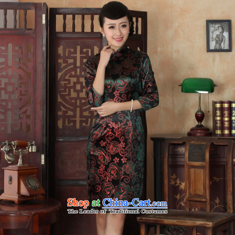 Ms Au King Mansion to Chinese improved cheongsam dress long skirt superior Stretch Wool cheongsam dress Kim Sau San 7 Cuff color pictures聽, L' Jing Ge , , , shopping on the Internet