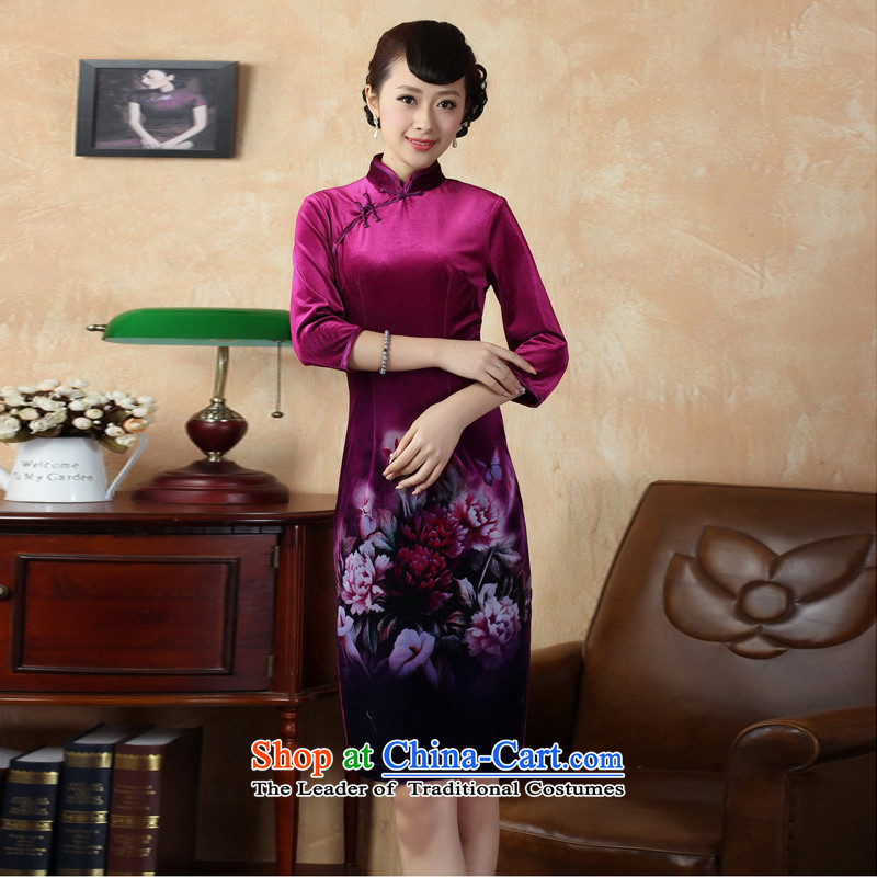 Mrs Ingrid Yeung as Overgrown Tomb? 2014 new fall inside the elegant manually drive collar elastic Kim detained scouring pads as shown?XXL qipao Tang