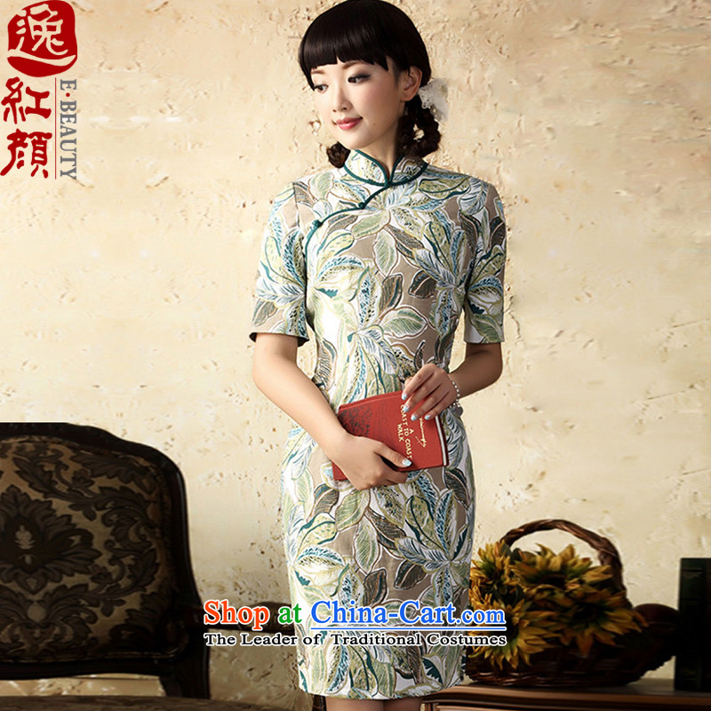 A Pinwheel Without Wind pointed out that the fall of linen Yat cheongsam dress autumn 2015 replacing improved stylish Sau San stamp cotton linen dresses suits the green?XL