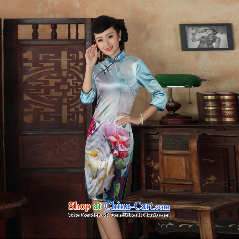 Mrs Ingrid Yeung economy Overgrown Tomb� for women 2014 New Tang Dynasty Chinese collar improved scouring pads lace qipao costumes, cuff figure燬 Cheongsam