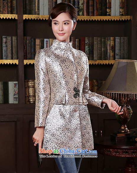 [Sau Kwun Tong] birds spirit for autumn and winter 2014 new coat temperament Sau San Chinese improved Tang jackets TC41016 blue and gray聽XL Photo, prices, brand platters! The elections are supplied in the national character of distribution, so action, buy now enjoy more preferential! As soon as possible.