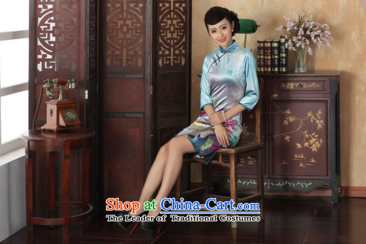 In the new kit, an elegant and women's gold velour collar manually disc detained Sau San Tong replacing cheongsam dress female figure聽S picture, prices, brand platters! The elections are supplied in the national character of distribution, so action, buy now enjoy more preferential! As soon as possible.