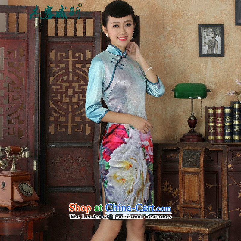 In the new kit, an elegant and women's gold velour collar manually disc detained Sau San Tong replacing cheongsam dress female figure聽S, Cheng Kejie, the , , , shopping on the Internet