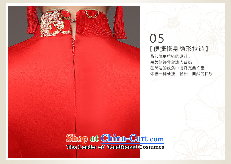 The HIV qipao 2015 Spring) long marriages red bows services retro lace on Chinese cheongsam dress聽Q0036 slice聽red聽L picture, prices, brand platters! The elections are supplied in the national character of distribution, so action, buy now enjoy more preferential! As soon as possible.