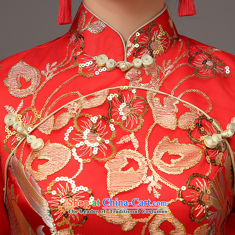 The HIV qipao 2015 Spring) long marriages red bows services retro lace on Chinese cheongsam dress聽Q0036 slice聽red聽, L, HIV Miele shopping on the Internet has been pressed.
