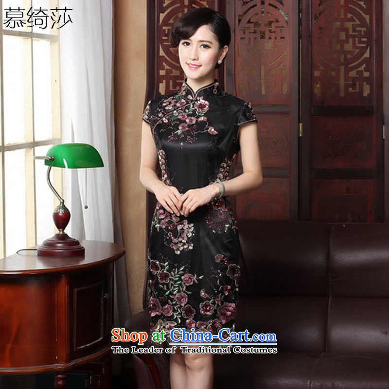 The cross-sa�15 new summer original female Chinese qipao stylish improved daily dresses燳3088B XL