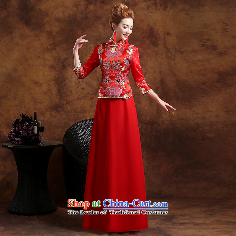The Republika Srpska divas qipao bows services fall 2015 stylish red bride long qipao bows services serving the marriage of Chinese bride bows bows services red燲XL_ qipao Red straight to align with elegant_