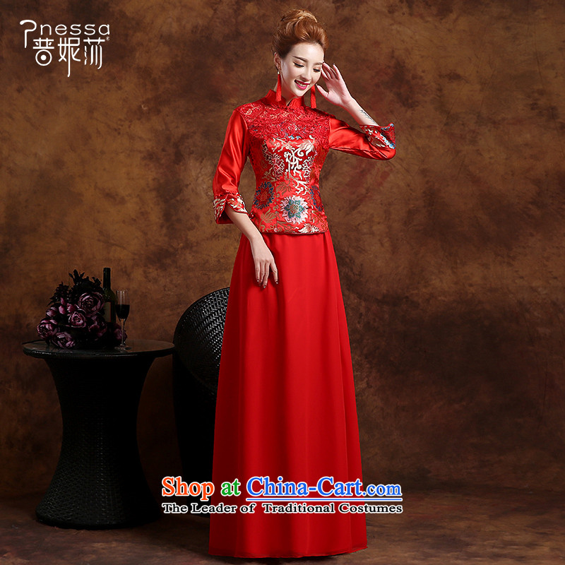 The Republika Srpska divas qipao bows services fall 2015 stylish red bride long qipao bows services serving the marriage of Chinese bride bows bows services red qipao燣