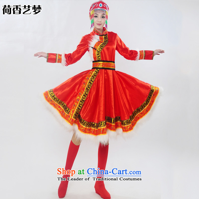 I should be grateful if you would have the Champs Elysees arts dreams 2015 genuine new Mongolia will unveil Mongolian folk dances of women of ethnic minorities costumes dance HXYM0028 services red燲L