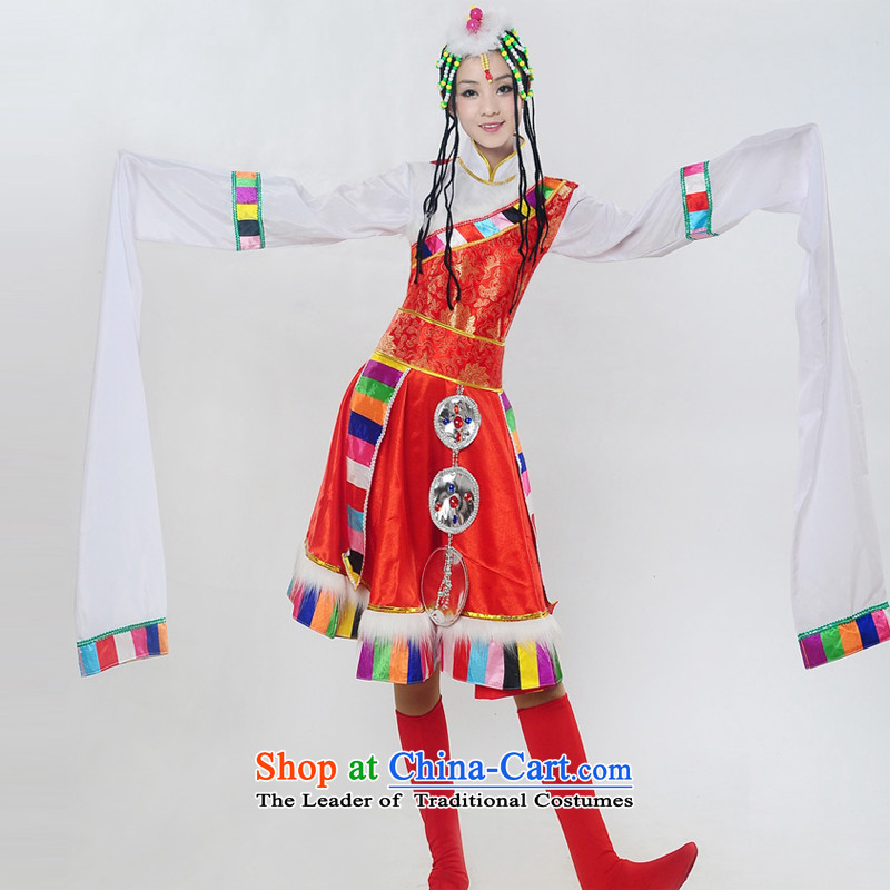 Arts dreams dress new 2015 Tibetan sleeves dance performances to minority clothing female HXYM-0029 RED?XXL