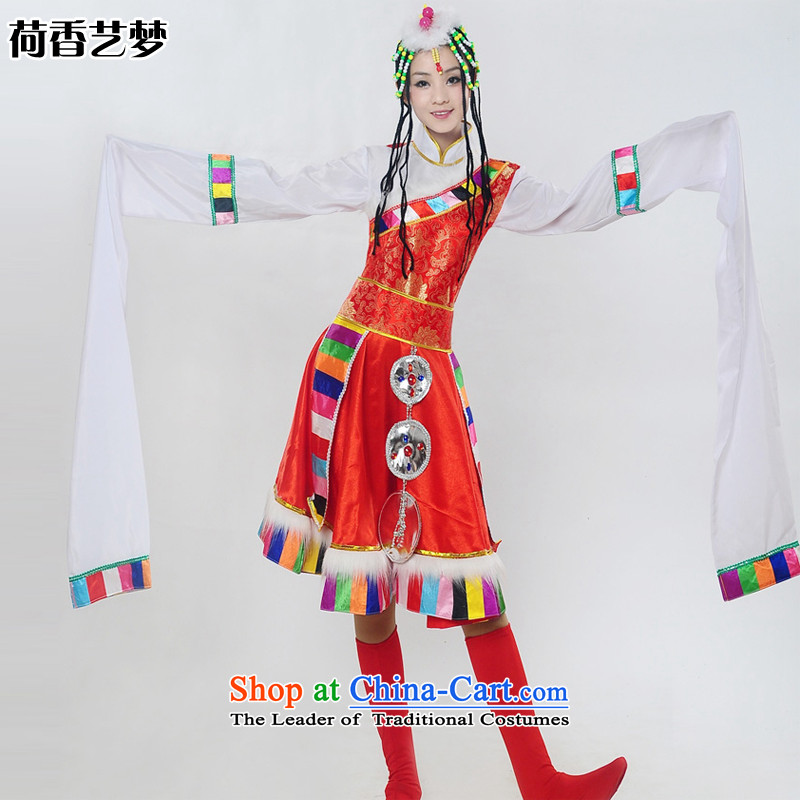 I should be grateful if you would have the Champs Elysees arts dreams 2015 new Tibetan sleeves dance performances to minority clothing female HXYM0029 RED S
