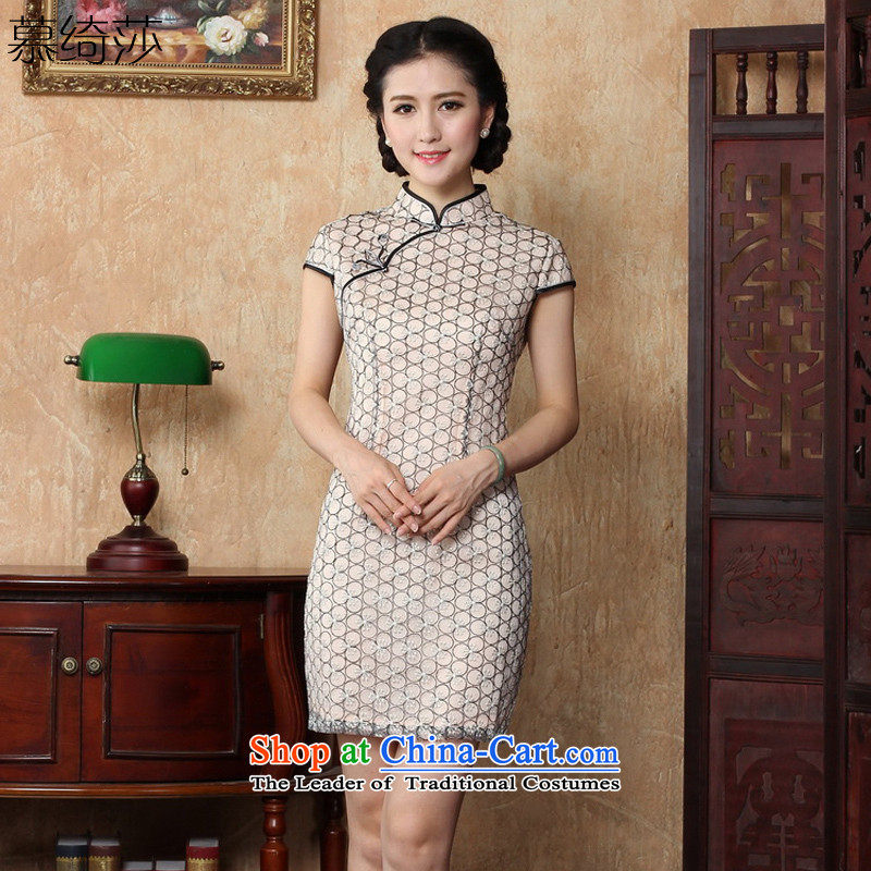The cheer her cheongsam dress lace new�15 Summer improved stylish white Sau San Tong燳3151B load routine female XL