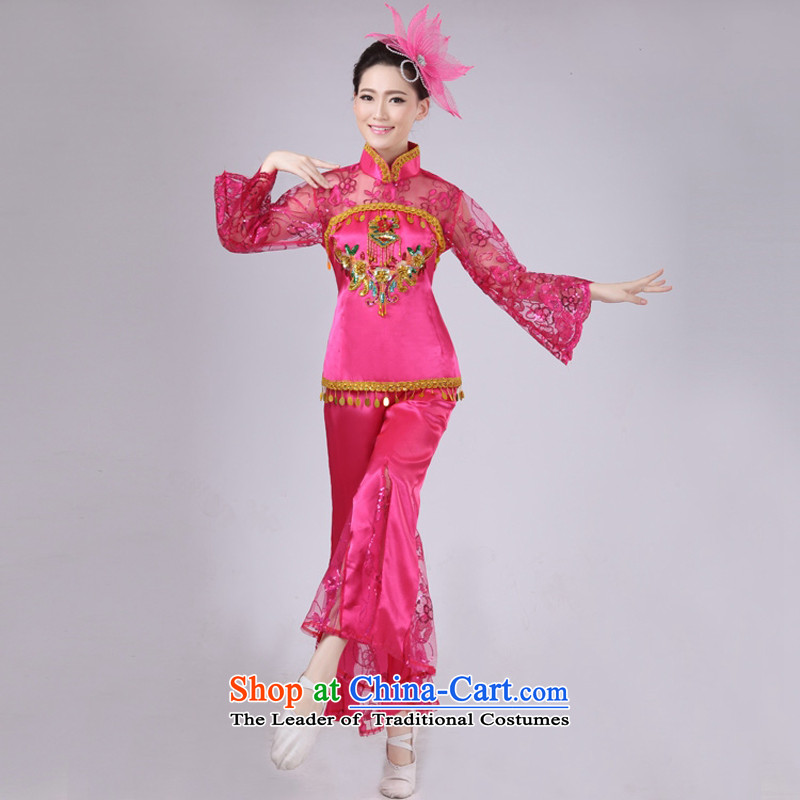 Arts dreams dress new fans 2015 Dance Performance services services services stage performances yangko janggu serving national costumes of red M HXYM-0030