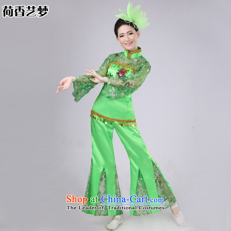 I should be grateful if you would have the Champs Elysees arts dreams 2015 New Fan Dance Performance services services services stage performances yangko janggu serving national costumes HXYM0030 green�L