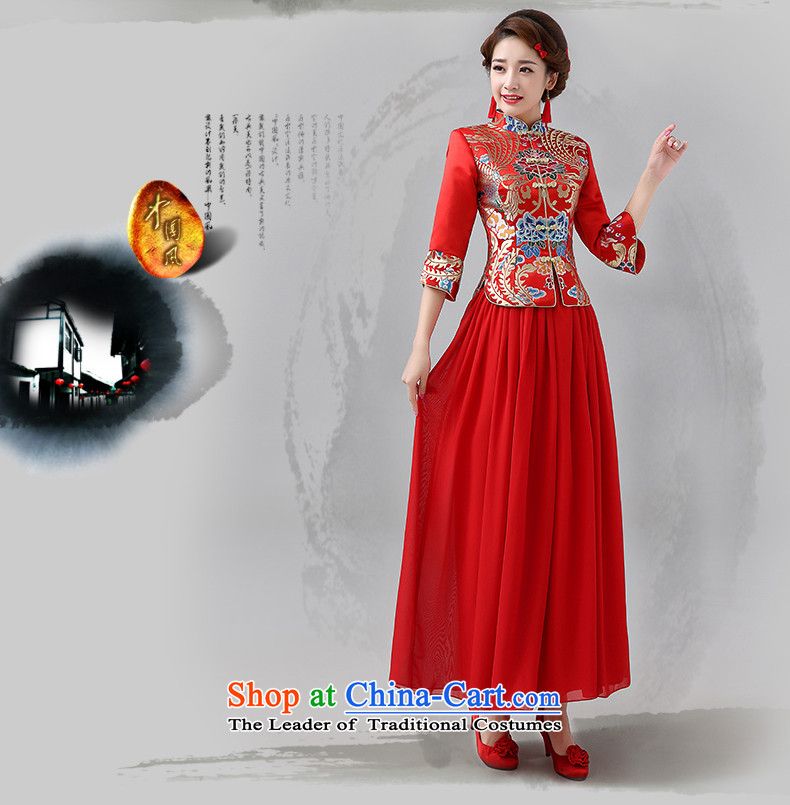 Hiv Miele 2014 winter clothing new marriages cheongsam red long serving Chinese Dress folder bows unit in long-sleeved two kits Q0044 M picture, prices, brand platters! The elections are supplied in the national character of distribution, so action, buy now enjoy more preferential! As soon as possible.